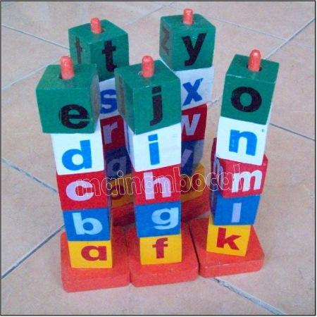 mainan edukatif menara abjad