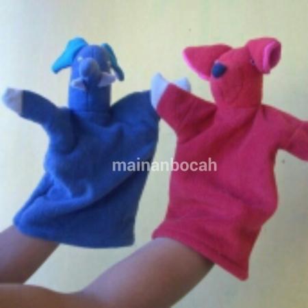 mainan edukatif - boneka tangan wol