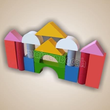 mainan edukatif - balok bangunan warna