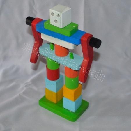 mainan edukatif - balok robot