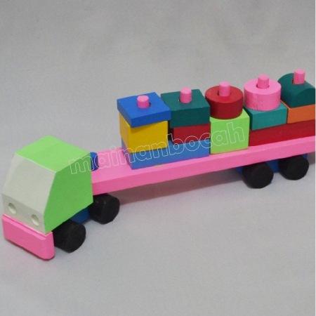 mainan edukatif - balok truk