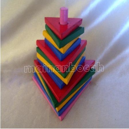 menara pelangi segitiga
