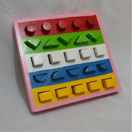mainan edukatif - pasak warna geometri