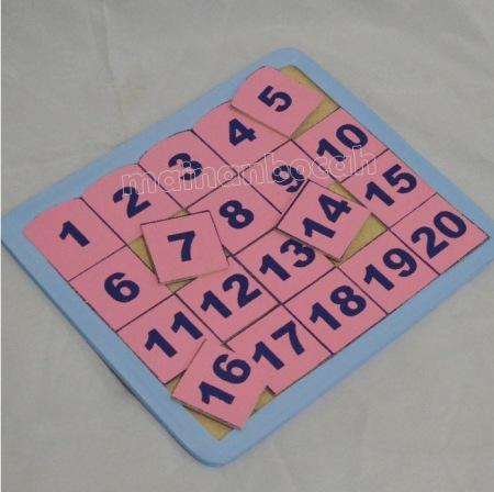 mainan edukatif - puzzle angka