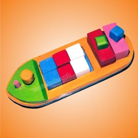 mainan edukatif - balok kapal