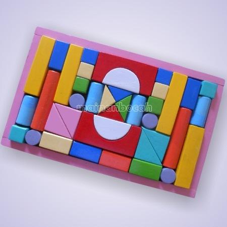 mainan edukatif - city block - balok tepak 40